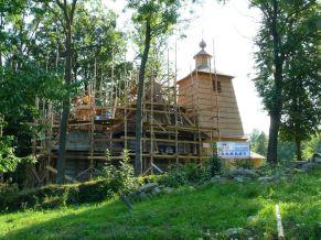 Cerkiew w Bałuciance w trakcie remontu, 2012r.