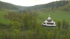 widok na Hoszowską cerkiew