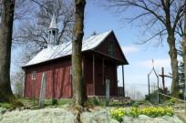 Kościółek wśród drzew -dawna cerkiew gr-kat.