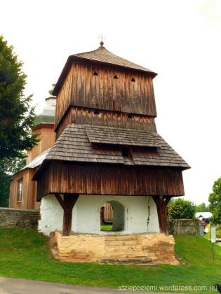 Dzwonnica - stara pierwotna cerkiew - dziś brama na teren nowszej cerkwi
