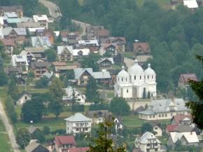 wieś Szlachtowa z góry...