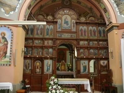 Szlachtowa cerkiew - wnętrze