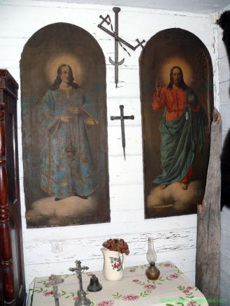 ikony z sosnowickiej cerkwi, obecnie w muzeum Poleskiego PN