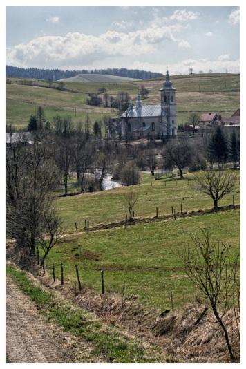 Izby, widok na wieś, fot. 2015r.