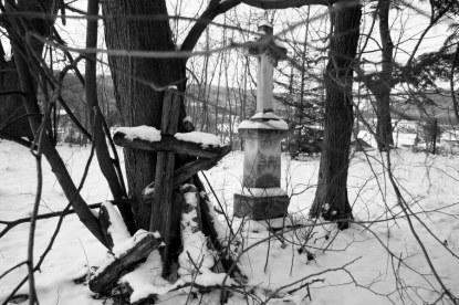 Hujsko (Nowe Sady) - pozostałości cmentarza