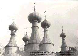 Nieistniejąca cerkiew w Klimkówce, wyburzona w 1983r. Fot. Marek Nowacki, źródło: internet